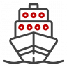 Sea Freight and Cargo Shipping Icon